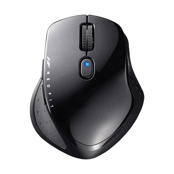 (まとめ)バッファロー 無線 BlueLED5ボタン ネオフィットマウス Sサイズ ブラック BSMBW510SBK 1個【×2セット】