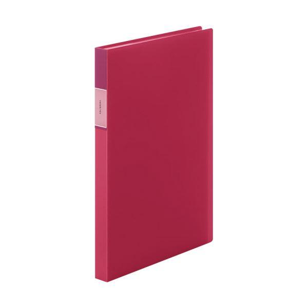 (まとめ) キングジム FAVORITESクリアーファイル(透明) A4タテ 40ポケット 背幅24mm 赤 FV166TWアカ 1冊 【×30セット】