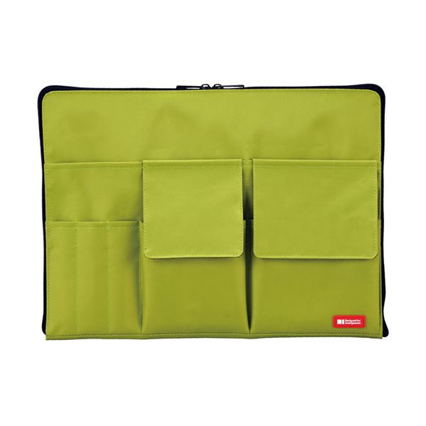 (まとめ) リヒトラブ バック・イン・バッグ A4黄緑 A-7554-6 1個 【×10セット】
