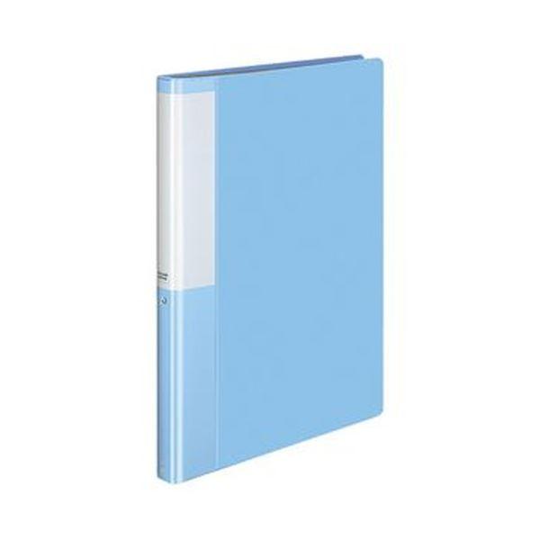 (まとめ)コクヨ クリヤーブック(POSITY)固定式 A4タテ 40ポケット 背幅25mm ライトブルー P3ラ-L40NLB 1セット(10冊)【×3セット】