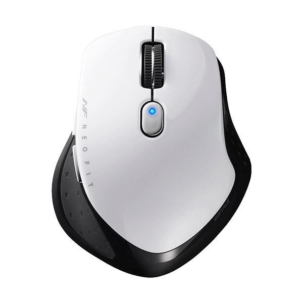 (まとめ)バッファロー 無線 BlueLED5ボタン ネオフィットマウス Sサイズ ホワイト BSMBW510SWH 1個【×2セット】