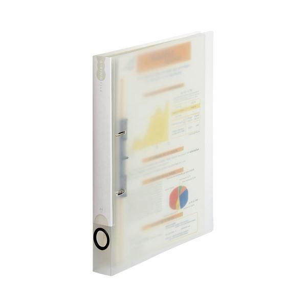 (まとめ)TANOSEEDリングファイル(PP表紙) A4タテ 2穴 200枚収容 背幅38mm クリア 1冊 【×30セット】