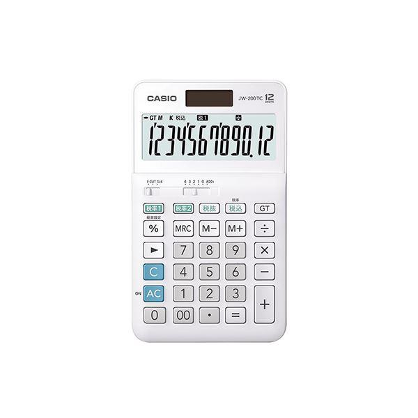 (まとめ) カシオ W税率電卓 ジャストタイプ 12桁【×5セット】