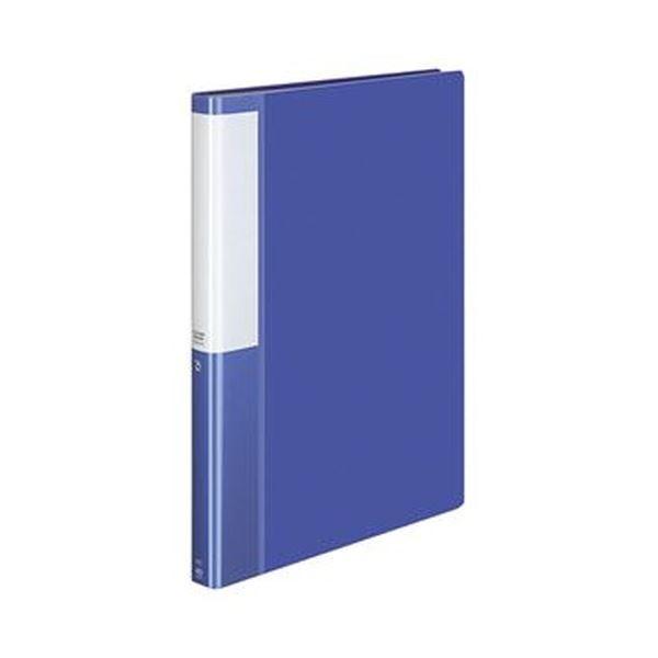 (まとめ)コクヨ クリヤーブック(POSITY)固定式 A4タテ 40ポケット 背幅25mm ブルー P3ラ-L40NB 1セット(10冊)【×3セット】