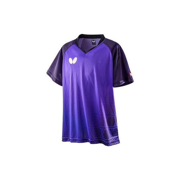 Butterfly(バタフライ) 卓球ゲームシャツ LAGOMEL SHIRT ラゴメル・シャツ 男女兼用 ロイヤルブルー 3S