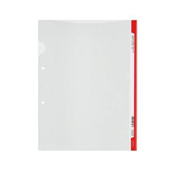 (まとめ)コクヨ ファイリングホルダー<カラーバー> 2穴あき・ロング見出しカード付き A4 赤 フ-GHL750R 1セット(5冊)【×20セット】