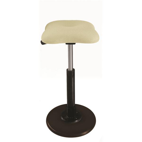 モダン スツール/丸椅子 【アイボリー×ブラック】 幅33cm 日本製 『ツイストスツールラフレシア Kモーション』【代引不可】