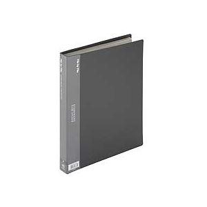 【×30セット】 BCB-A4-40DG 40ポケット 1冊 クリヤーブック(クリアブック) 背幅26mm A4タテ ビュートン (まとめ) ダークグレー