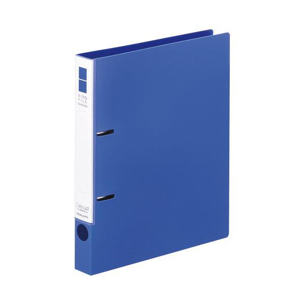 (まとめ)コクヨ リングファイル(スリムスタイル)B5タテ 2穴 220枚収容 背幅33mm 青 フ-URF431B 1冊【×20セット】