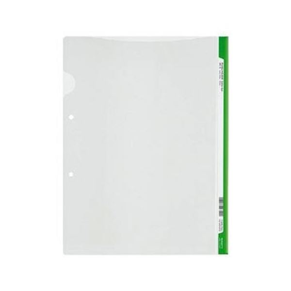 A4 ライトグリーン 2穴あき・ロング見出しカード付き (まとめ)コクヨ 1セット(5冊)【×20セット】 ファイリングホルダー<カラーバー> フ-GHL750Lg