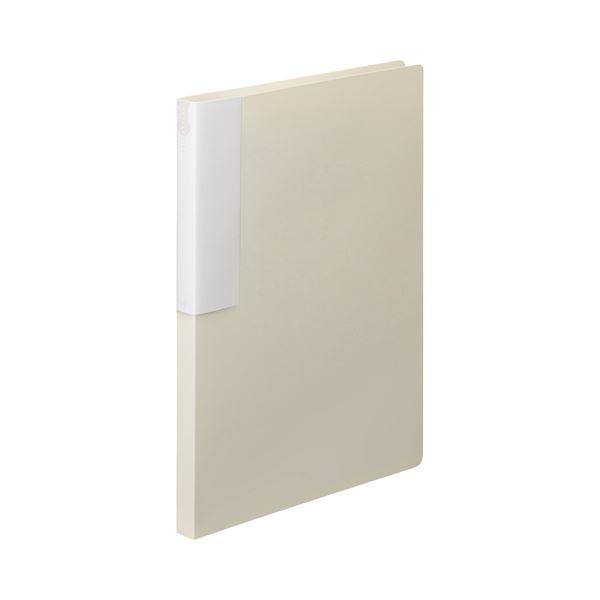 (まとめ) TANOSEE レターファイル(PP) A4タテ 120枚収容 背幅18mm オフホワイト 1セット(10冊) 【×10セット】