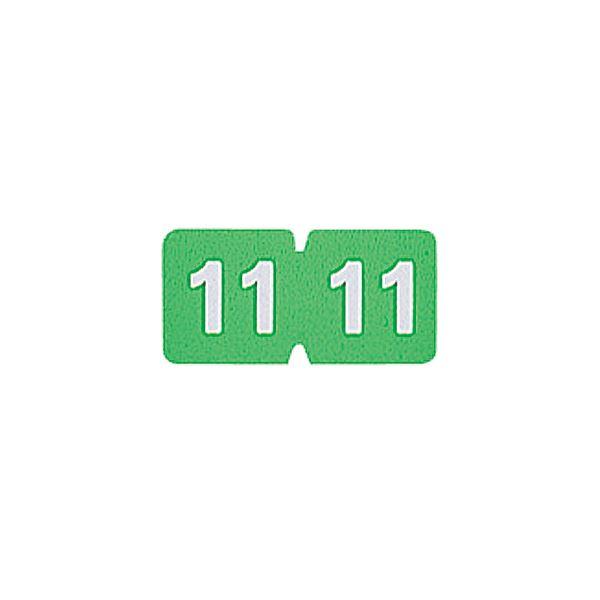 (まとめ) リヒトラブ カラー月ラベルMロールタイプ 「11」 HK781R-11 1箱(300片) 【×10セット】