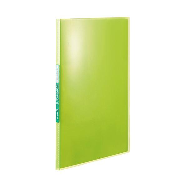 (まとめ) キングジム シンプリーズクリアーファイル(透明) A4タテ 20ポケット 背幅12mm 黄緑 TH184TSPG 1冊 【×50セット】