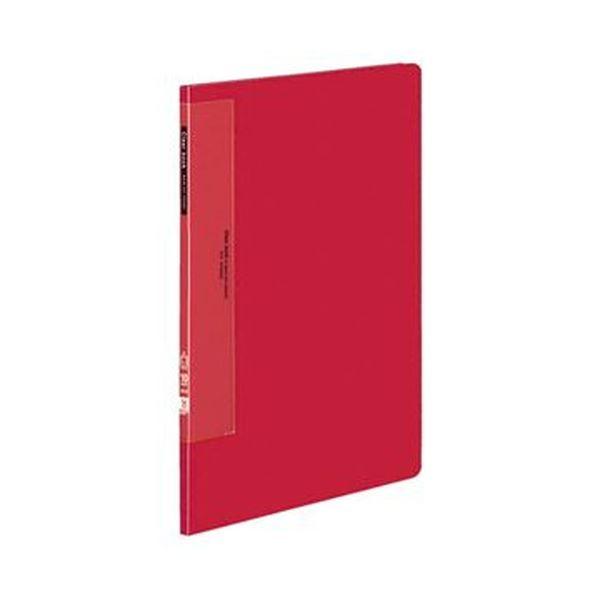 (まとめ)コクヨ クリヤーブック(ウェーブカットポケット・固定式)A4タテ 10ポケット 背幅10mm 赤 ラ-T550R 1セット(10冊)【×3セット】
