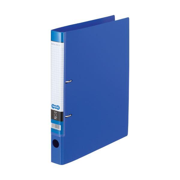 (まとめ) TANOSEE DリングファイルA4タテ 2穴 200枚収容 背幅37mm ブルー 1冊 【×30セット】