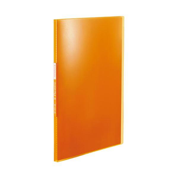 (まとめ) キングジム シンプリーズクリアーファイル(透明) A4タテ 20ポケット 背幅12mm オレンジ TH184TSPO 1冊 【×50セット】
