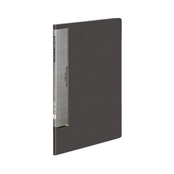(まとめ)コクヨ クリヤーブック(ウェーブカットポケット・固定式)A4タテ 10ポケット 背幅10mm ダークグレー ラ-T550DM 1セット(10冊)【×3セット】
