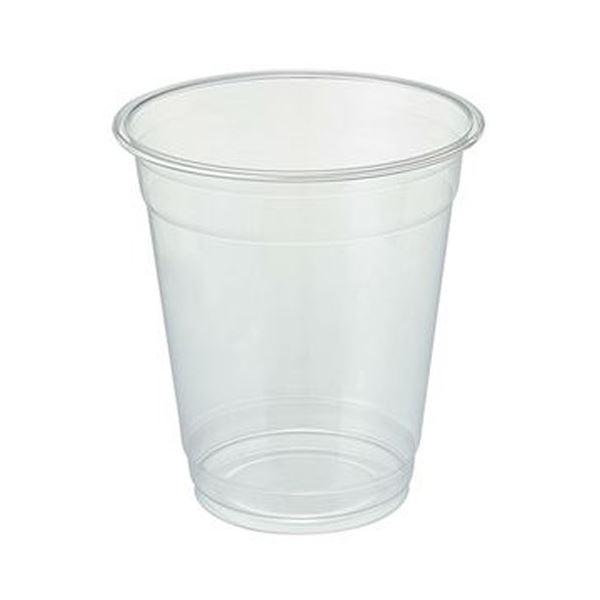 (まとめ)TANOSEE リサイクルPETカップ(広口)420ml(14オンス)1パック(50個)【×20セット】