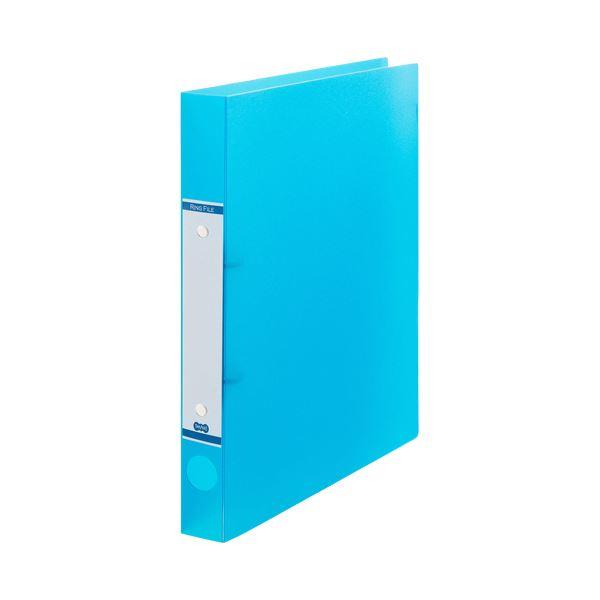 (まとめ) TANOSEEOリングファイル(半透明表紙) A4タテ リング内径25mm ブルー 1セット(10冊) 【×10セット】