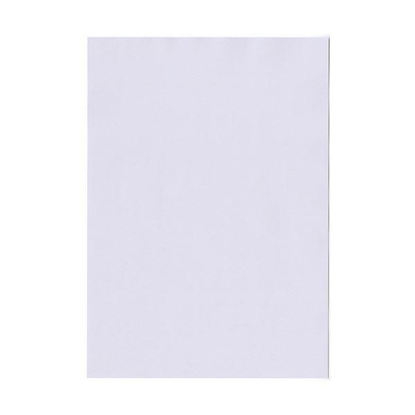 (まとめ)北越コーポレーション 紀州の色上質A4T目 薄口 藤 1箱(4000枚:500枚×8冊)【×3セット】