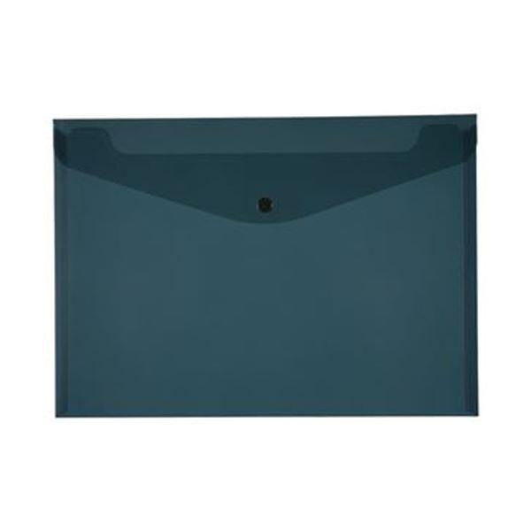(まとめ)TANOSEE エンベロープ A4ヨコ ブラック 1セット(20枚:4枚×5パック)【×10セット】