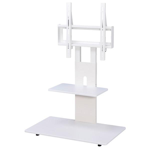 SunRuck テレビスタンド 1段棚 カバー付き 32~60インチ対応 SR-TVST04-WH ホワイト