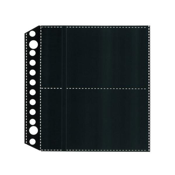 (まとめ) ライオン事務器名刺ポケット(両面ポケット)[ちょい足しポケット] 2・12穴 両面4ポケット ヨコ入れ MP-4BK1パック(10枚) 【×50セット】