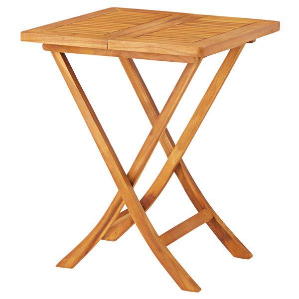 折りたたみテーブル/ローテーブル 【幅60cm×奥行60cm×高さ75cm】 木製 オイル仕上げ 〔リビング ダイニング〕
