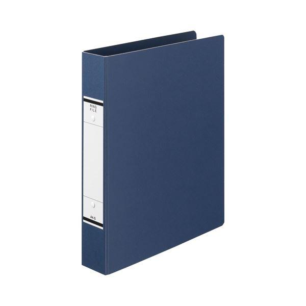 (まとめ) TANOSEE Oリングファイル(紙表紙) A4タテ 2穴 320枚収容 背幅52mm 青 1冊 【×30セット】