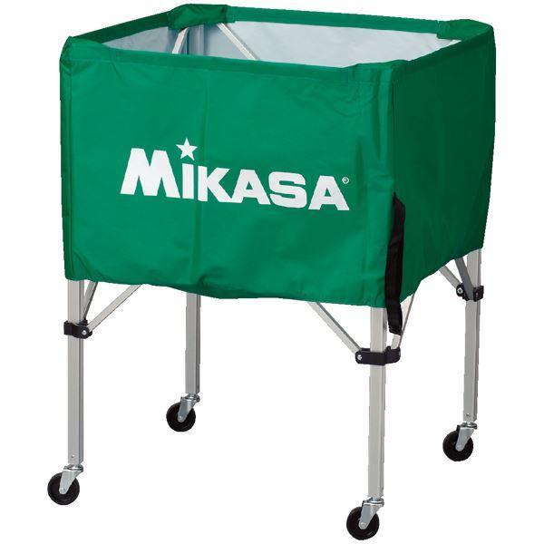 MIKASA(ミカサ)器具 ボールカゴ 箱型・中(フレーム・幕体・キャリーケース3点セット) グリーン 【BCSPS】
