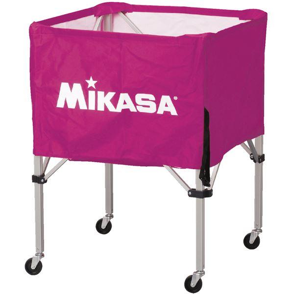 MIKASA(ミカサ)器具 ボールカゴ 箱型・中(フレーム・幕体・キャリーケース3点セット) バイオレット 【BCSPS】