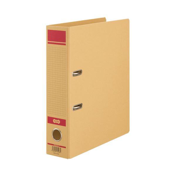 (まとめ) TANOSEE保存用レバー式アーチファイルN A4タテ 背幅77mm 赤 1冊 【×30セット】