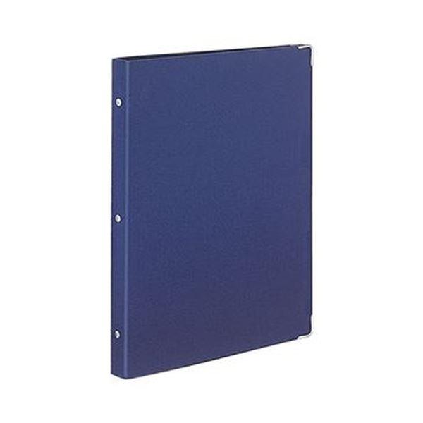 (まとめ)コクヨ バインダーノート(カラーパレット)ミドルタイプ A4タテ 30穴 ネイビー ル-155-2 1冊【×10セット】