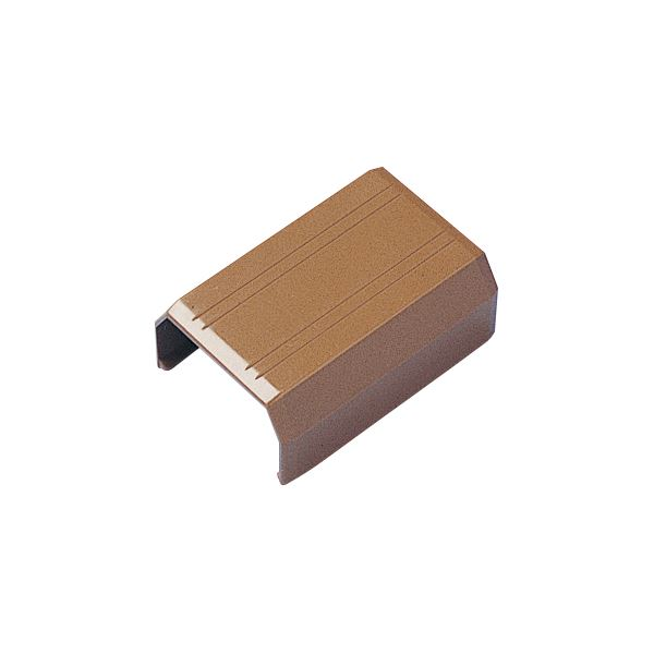 (まとめ) サンワサプライ ケーブルカバー22mm幅 直線 ブラウン CA-KK22BRJ 1個 【×50セット】