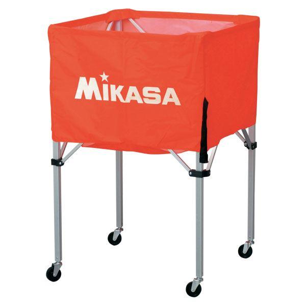 MIKASA(ミカサ)器具 ボールカゴ 箱型・中(フレーム・幕体・キャリーケース3点セット) オレンジ 【BCSPS】
