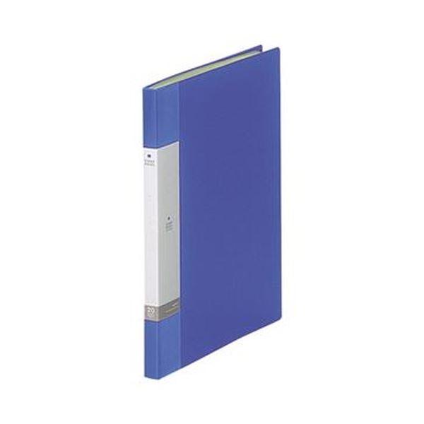 (まとめ)リヒトラブ リクエスト クリヤーブックA4タテ 20ポケット 背幅16mm 青 G3201-8 1セット(10冊)【×5セット】