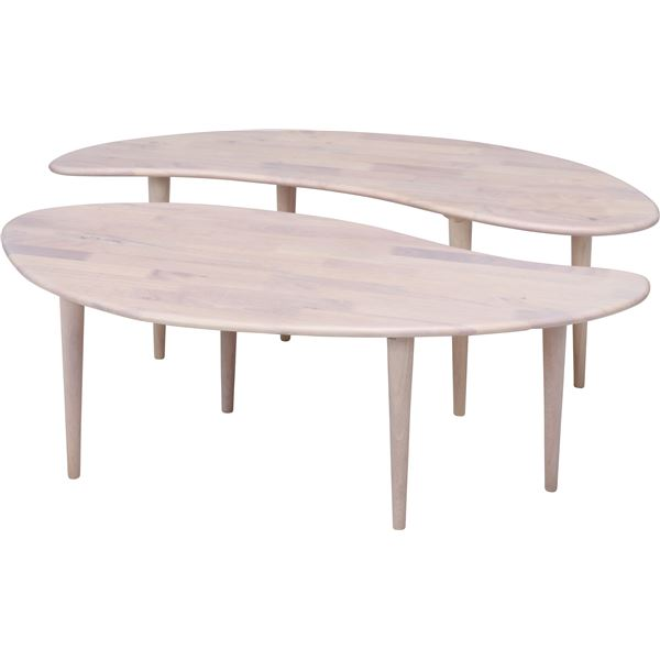 Natural Signature センターテーブル COFFEE ホワイトウォッシュ【代引不可】