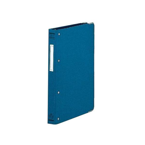 (まとめ) コクヨ バインダーMP(布貼り) B5タテ 26穴 100枚収容 背幅33mm 角金付き 青 ハ-110B 1冊 【×10セット】