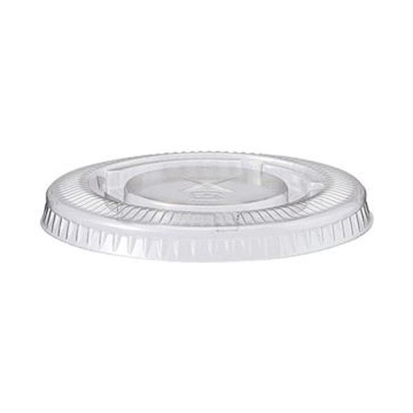 (まとめ)TANOSEE PETカップ フタ270ml用 1パック(100枚)【×20セット】