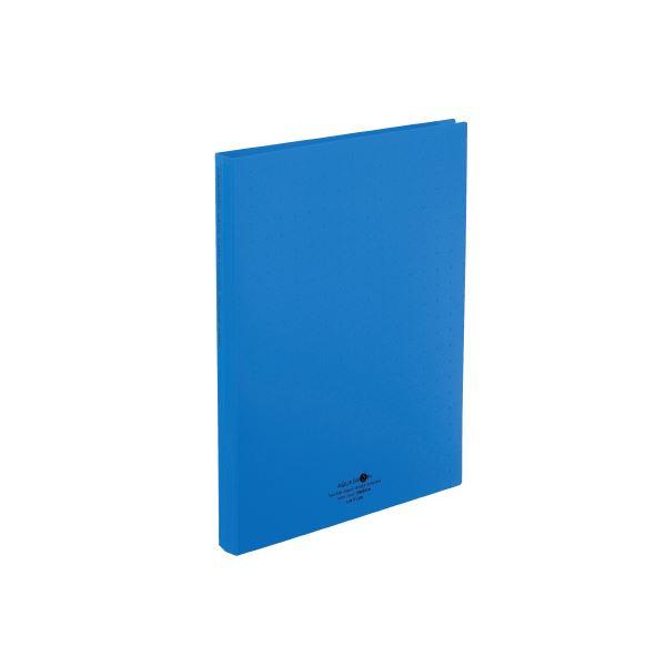 【スーパーSALE限定価格】(まとめ)LIHITLAB 名刺帳 A4 500枚用 青 A-5043-8【×30セット】