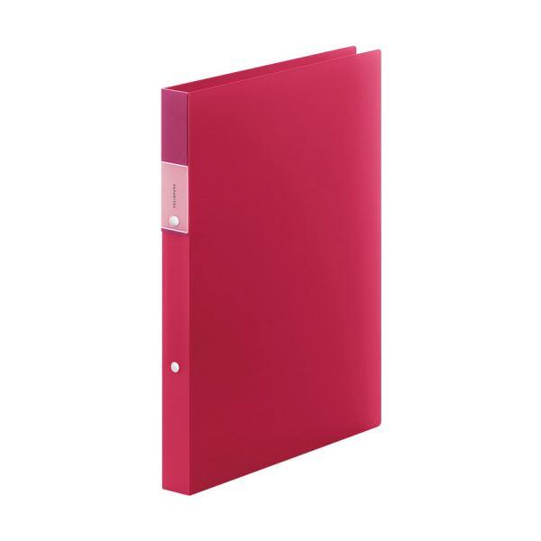 (まとめ) キングジム FAVORITESリングファイル(透明) A4タテ 2穴 140枚収容 背幅29mm 赤 FV621Tアカ 1冊 【×30セット】