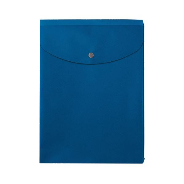 (まとめ) プラス シンプルワークポケット付エンベロープ マチ付 A4タテ ブルー FL-120CH 1枚 【×100セット】