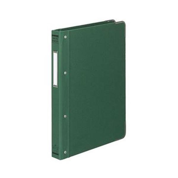 (まとめ)コクヨ バインダーMP(布貼り)B5タテ 26穴 100枚収容 背幅33mm 角金付き 緑 ハ-110G 1冊【×10セット】