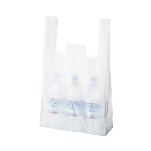 TANOSEE 乳白レジ袋 45号ヨコ300×タテ530×マチ幅140mm 1セット(6000枚:100枚×60パック)