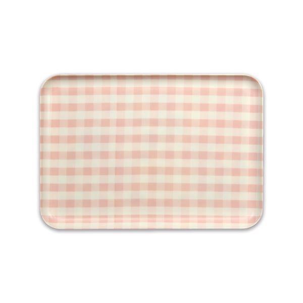 (まとめ) おぼん/トレイ 【M ピンク】 食器洗い乾燥機対応 STミルキートレー 【40個セット】