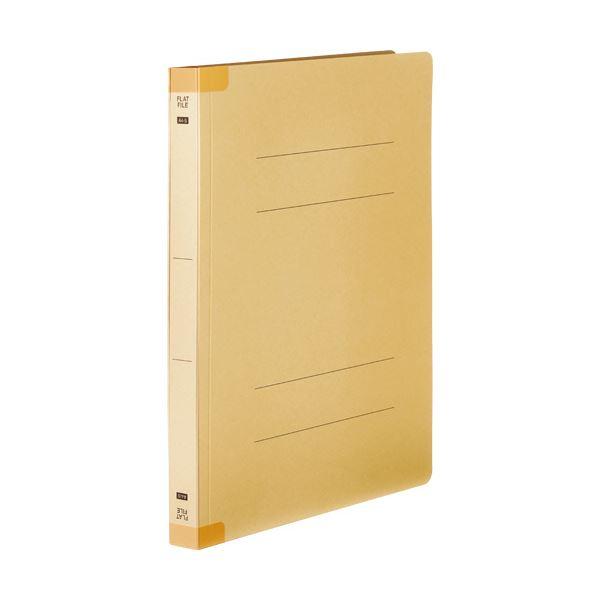 (まとめ) TANOSEEフラットファイル(背補強タイプ) 厚とじ A4タテ 250枚収容 背幅28mm イエロー 1パック(10冊) 【×10セット】