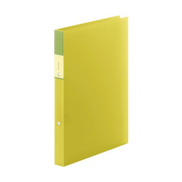 (まとめ) キングジム FAVORITESリングファイル(透明) A4タテ 2穴 140枚収容 背幅29mm 黄色 FV621Tキイ 1冊 【×30セット】