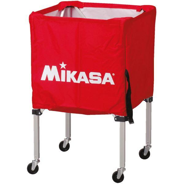 MIKASA(ミカサ)器具 ボールカゴ 箱型・小(フレーム・幕体・キャリーケース3点セット) レッド 【BCSPSS】