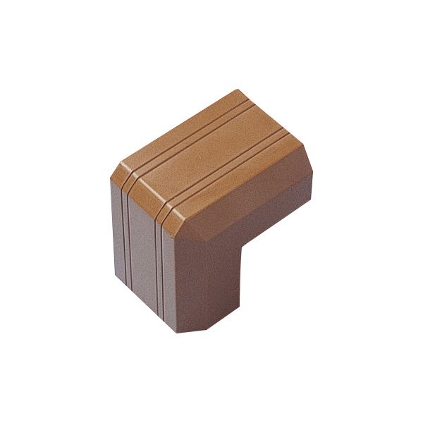 (まとめ) サンワサプライ ケーブルカバー17mm幅 出角 ブラウン CA-KK17BRD 1個 【×50セット】