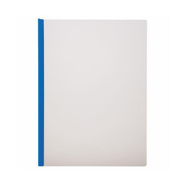 (まとめ) ライオン事務器 レポートカバー A4タテ約30枚収容 ブルー RC-33 1パック(10冊) 【×10セット】